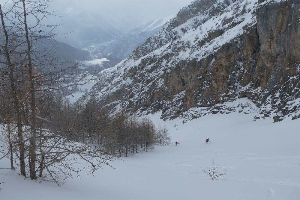 Ski randonnée Ubaye Fouillouse - Tour du Replat des Genisses - Duo