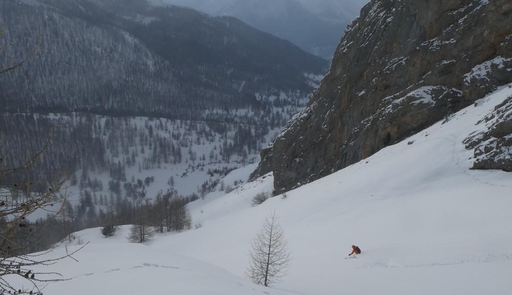 Ski randonnée Ubaye Fouillouse - Tour du Replat des Genisses - Eddi ouvre le bal