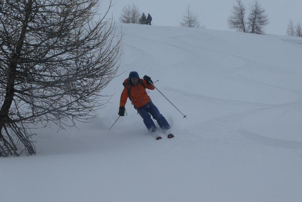 Ski randonnée Ubaye Fouillouse - La Sauvagea - Dans les bois du bas