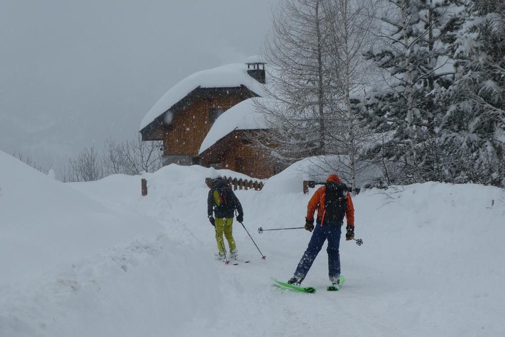 Hors piste Praloup - Retour sur Molanes, ça neige velu