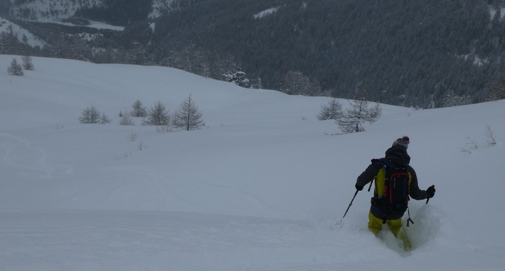 Hors piste Praloup - Tor and the deep deep snow!