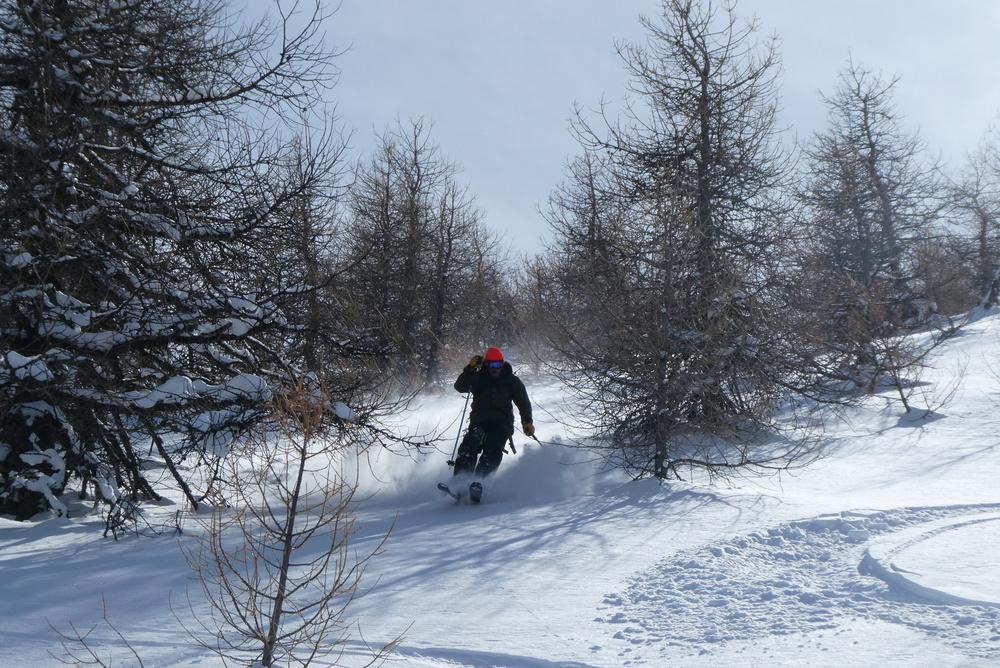 Free-rando-Crévoux - Snowboarder style