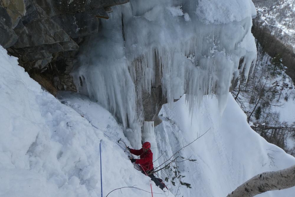 cascade de glace - Fracastorus - Beaux stalactites