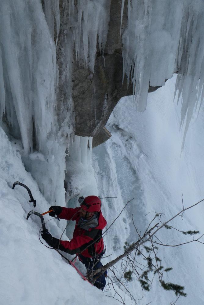 cascade de glace - Fracastorus - Belle ambiance dans le finish