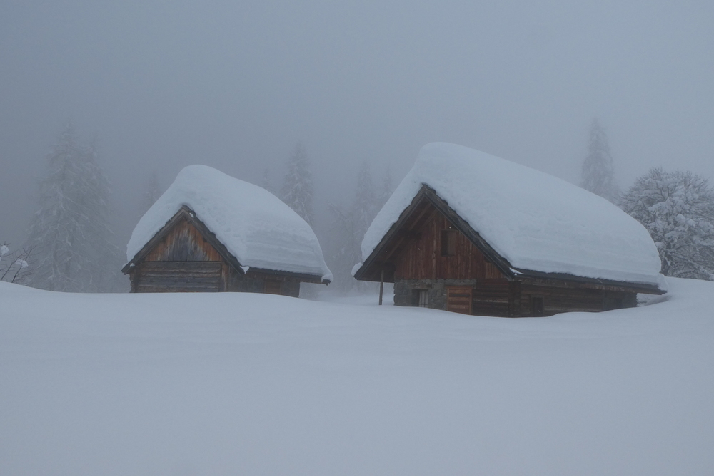 Crête de Reychard - Petite épaisseur de neige là!