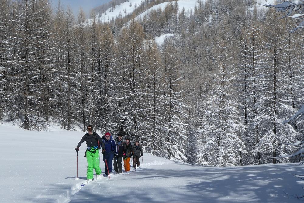 Ski randonnée les Orres - En route