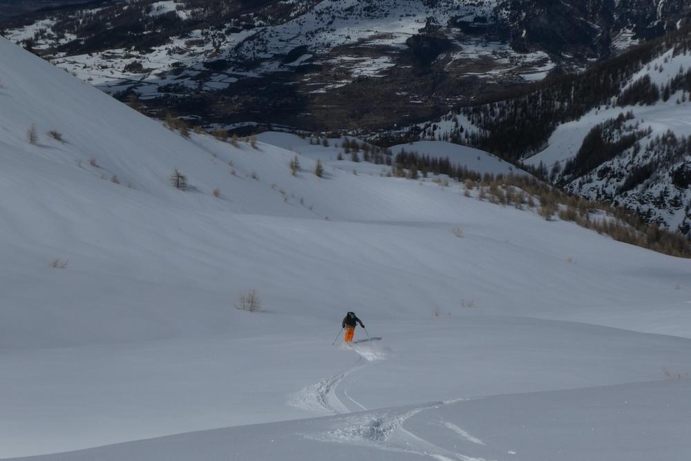 Ski randonnée les Orres - François n'en pleux plus!