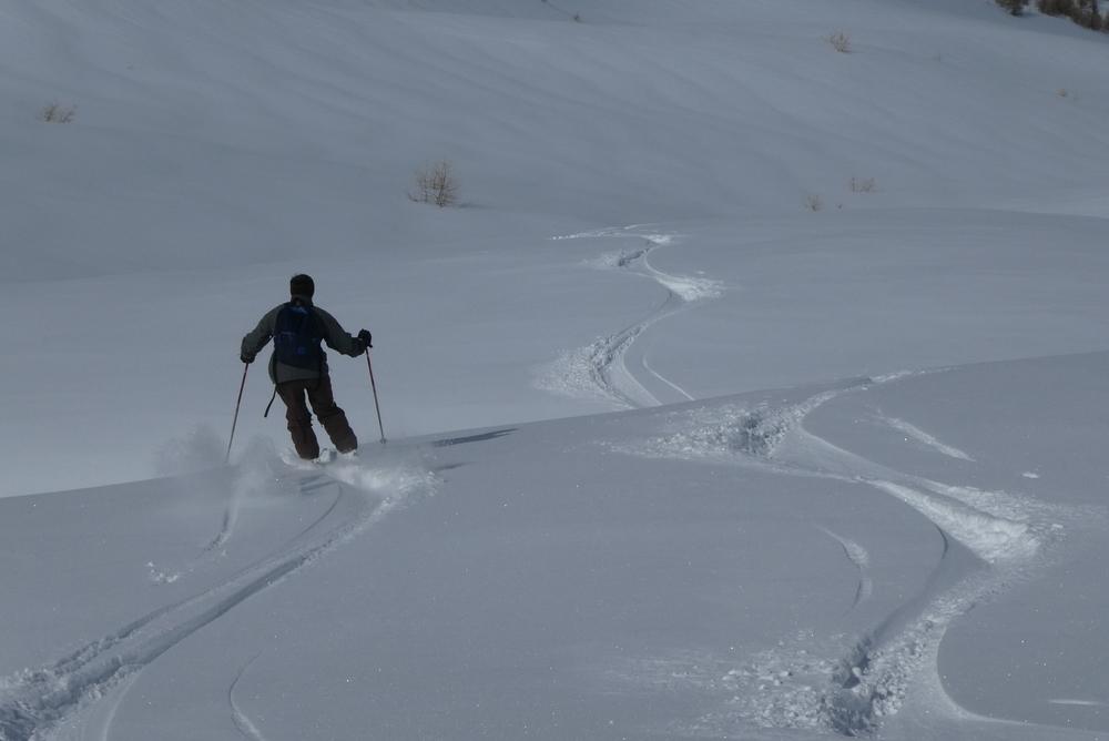 Ski randonnée les Orres - Philippe