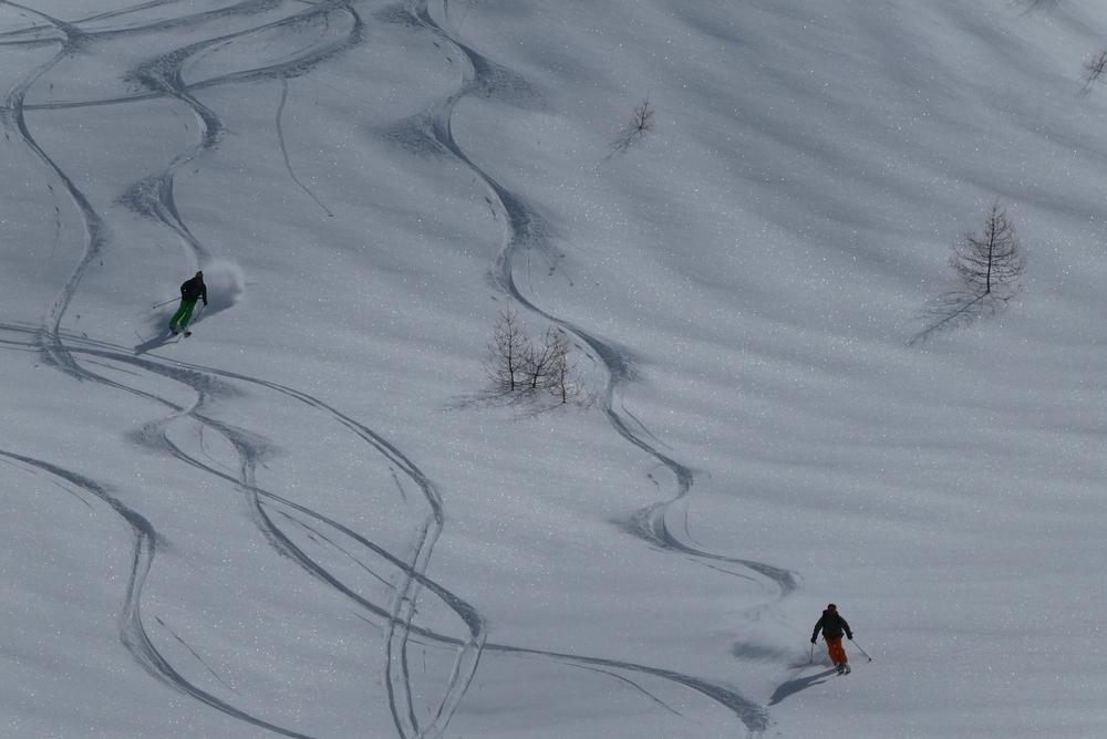 Ski randonnée les Orres - François et Boris