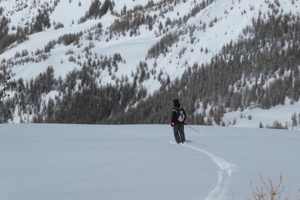 Ski randonnée les Orres - Nicolas ouvre