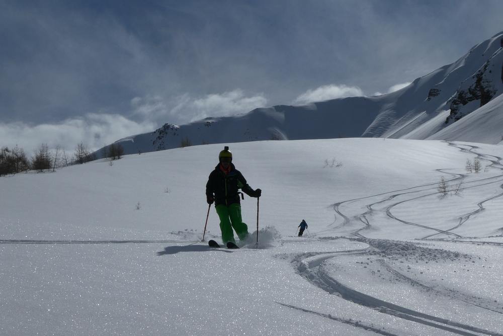 Ski randonnée les Orres - Boris en action