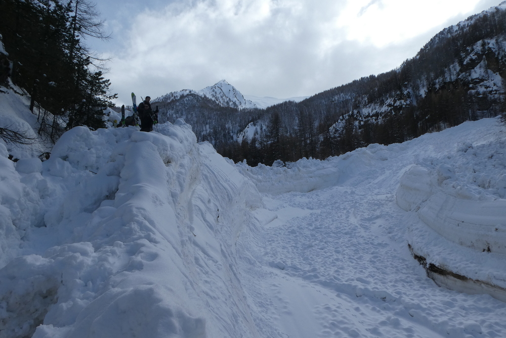 Ski randonnée les Orres - Ski randonnée les Orres - Avalanche monstrueuse