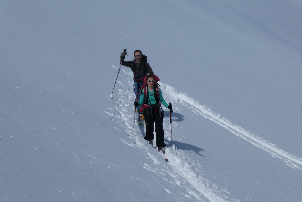 La Blanche - Freerando Pelvoux - Fin de la montée