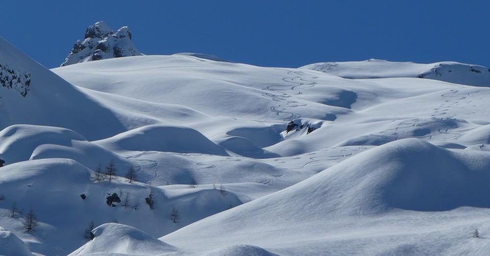 La Blanche - Freerando Pelvoux - Vue sur la descente