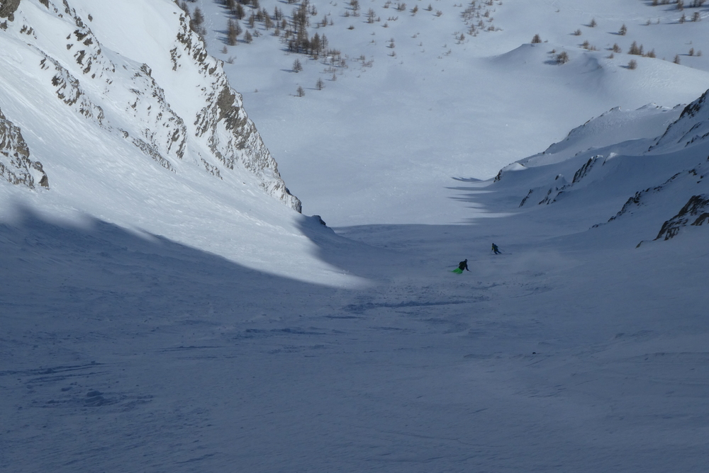 Couloir ChateauRenard - Le couple en action