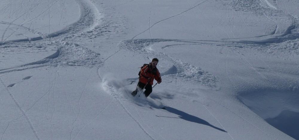 Ski hors piste rando - Valloire - Valmeinier - Lolo retrouve son style