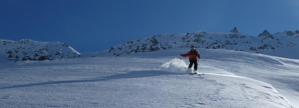 Ski hors piste rando - Valloire - Valmeinier - Deuxième descente, du sucre!