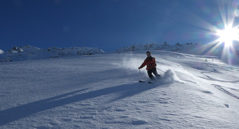 Ski hors piste rando - Valloire - Valmeinier - Equipe de rayeurs en action