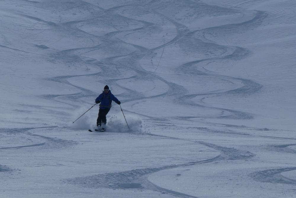 Ski rando terre rouge - Vers la Pissine - Tricotage