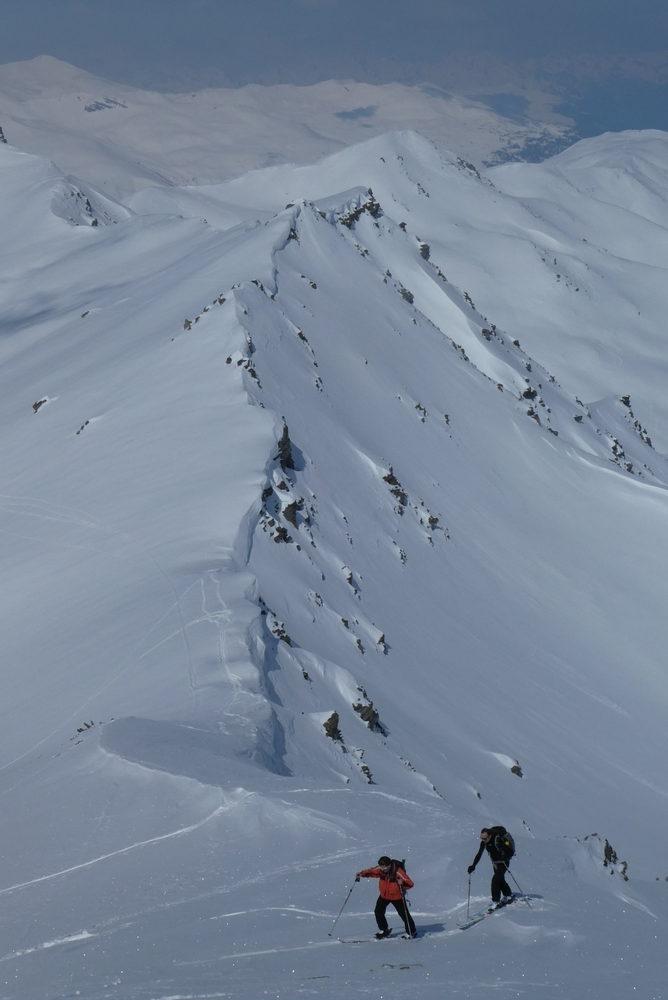 Ski rando terre rouge - Vers la Pissine - La crête du Touvet