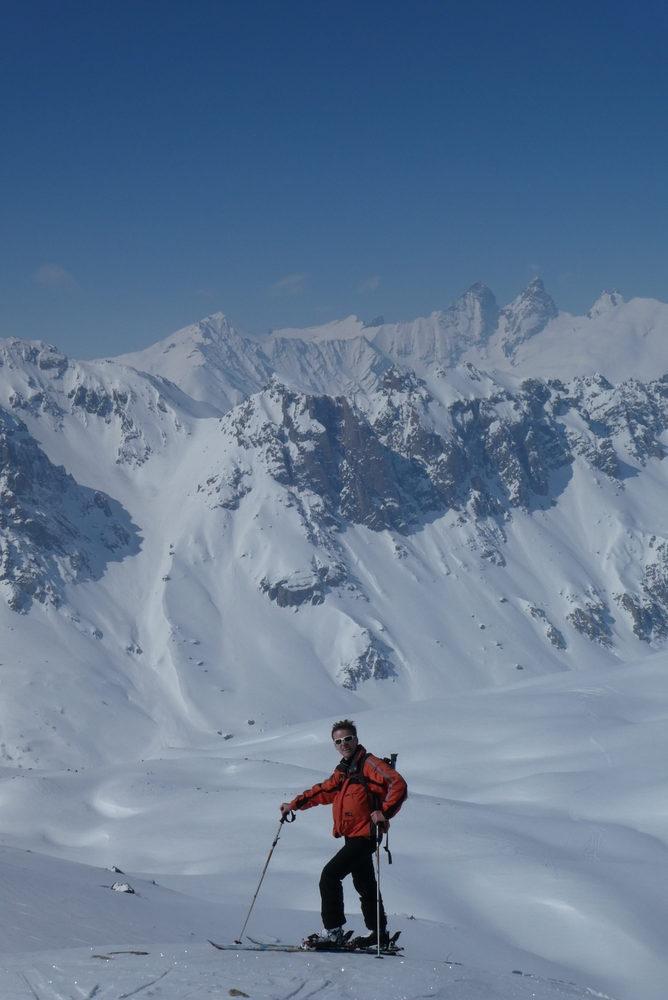 Ski rando terre rouge - Vers la Pissine - Lolo, la classe