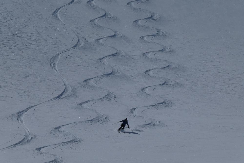 Ski rando terre rouge - Vers la Pissine - David