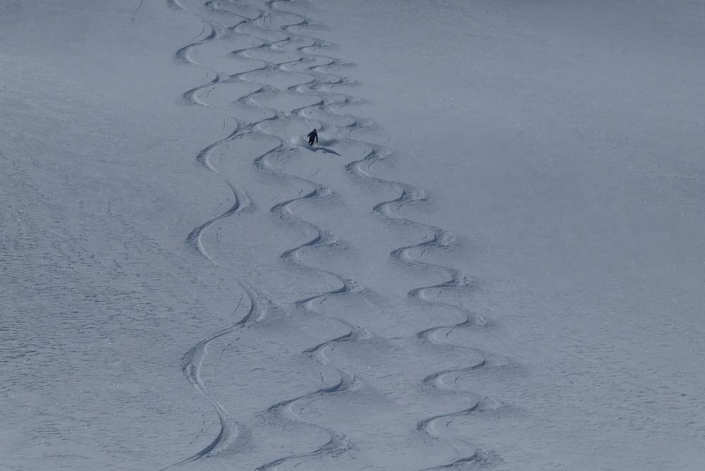 Ski rando terre rouge - Vers la Pissine - François, entre les lignes