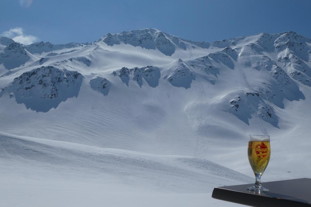 Ski rando terre rouge - Vers la Pissine - Plaisir de la vie