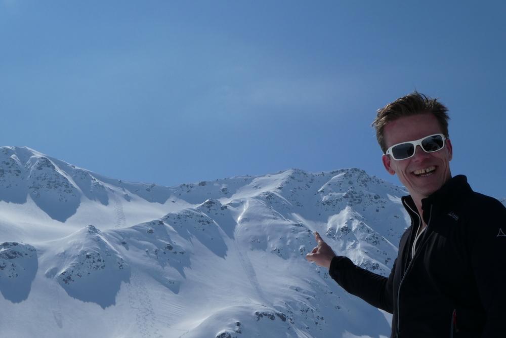 Ski rando terre rouge - Vers la Pissine - C'est pas la lolo!