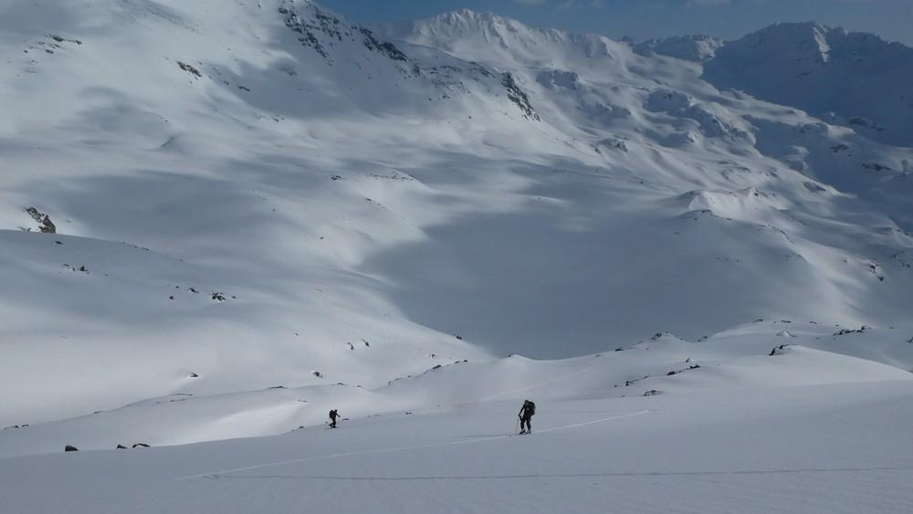 Ski rando terre rouge - Vers Roche Noire - Montée longuette