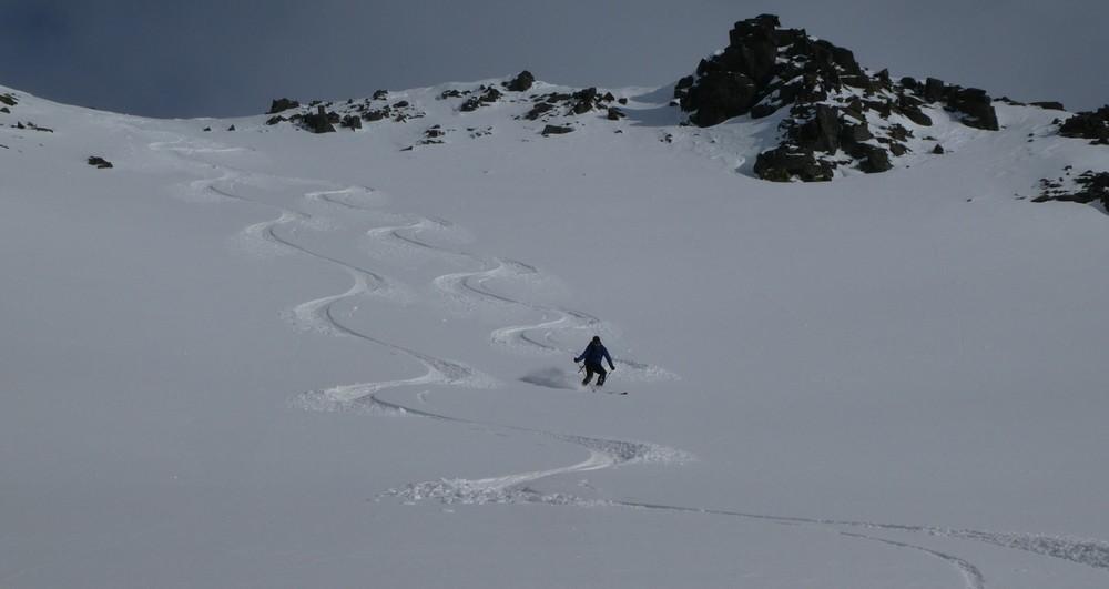 Ski rando terre rouge - Vers Roche Noire - Le délire continue