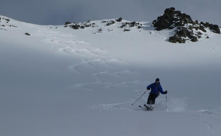 Ski rando terre rouge - Vers Roche Noire - Routine