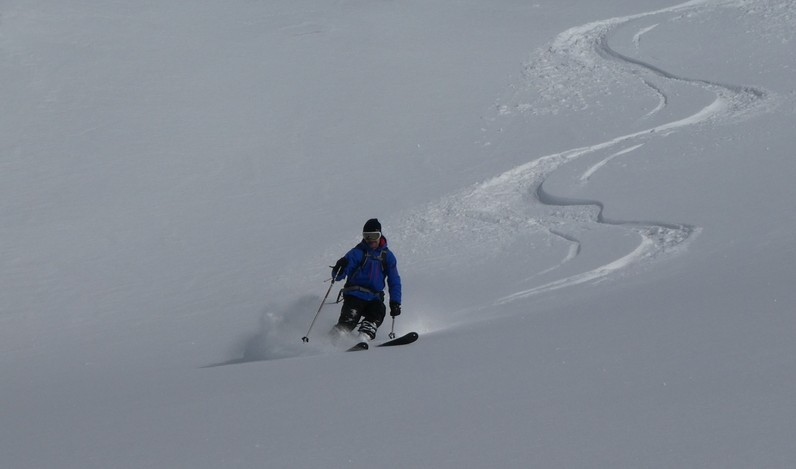 Ski rando terre rouge - Vers Roche Noire - François