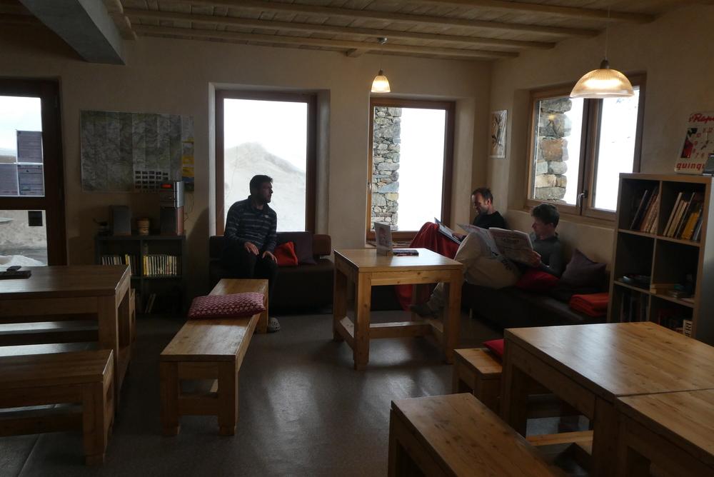 Ski rando terre rouge - Vers Roche Noire - Repos