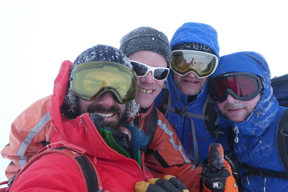 Ski rando - Roche Malotte - Petit fourchon - photo d'équipe