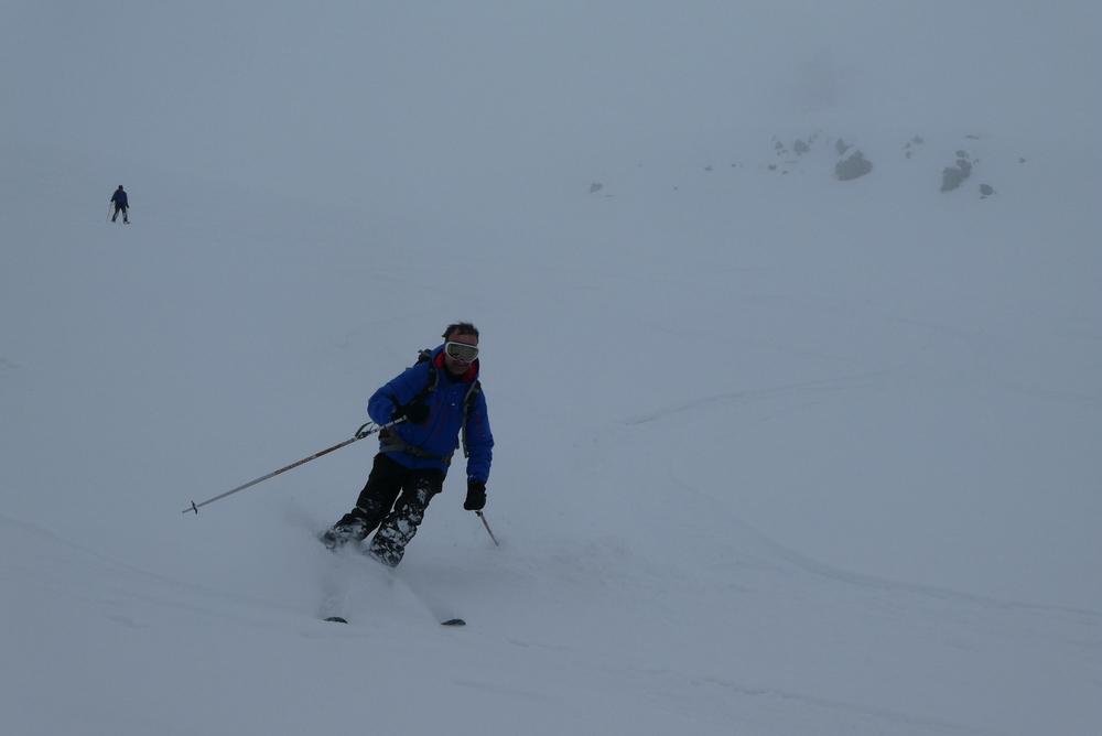 Ski rando - Roche Malotte - Petit fourchon - Derniers virages