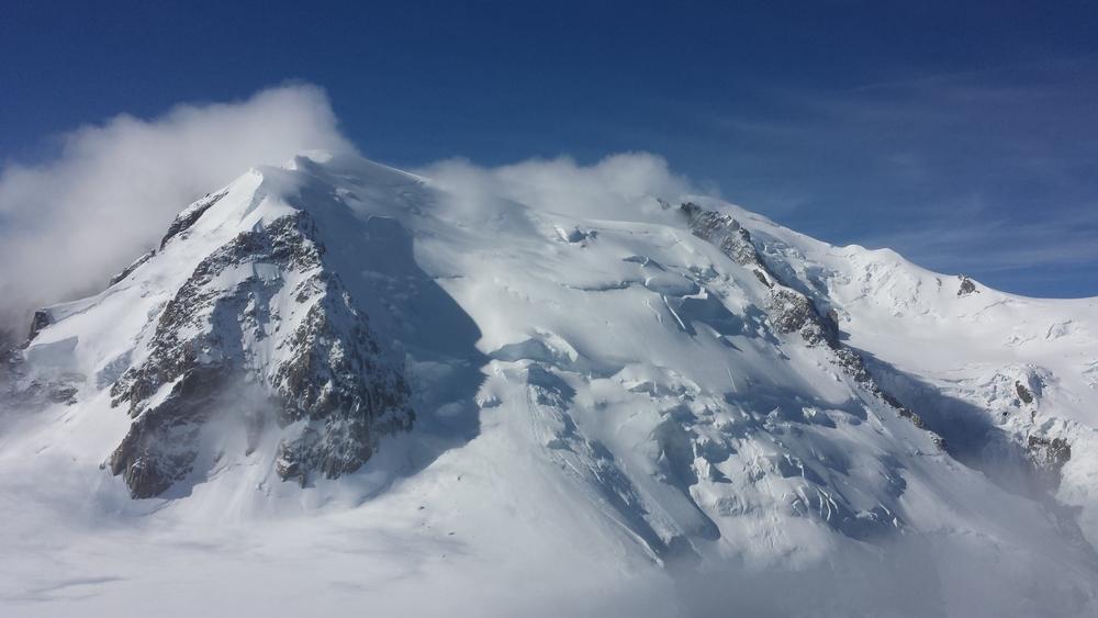 Arête des Cosmiques - Vue vers le Mont-Blanc