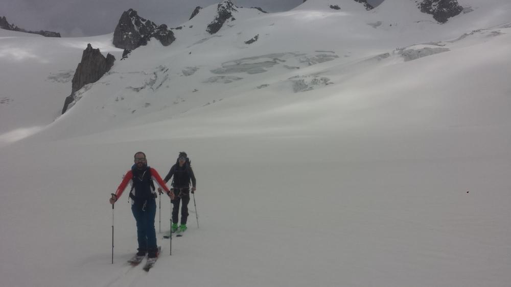 Mont-Blanc du Tacul - Ski - A l'aller