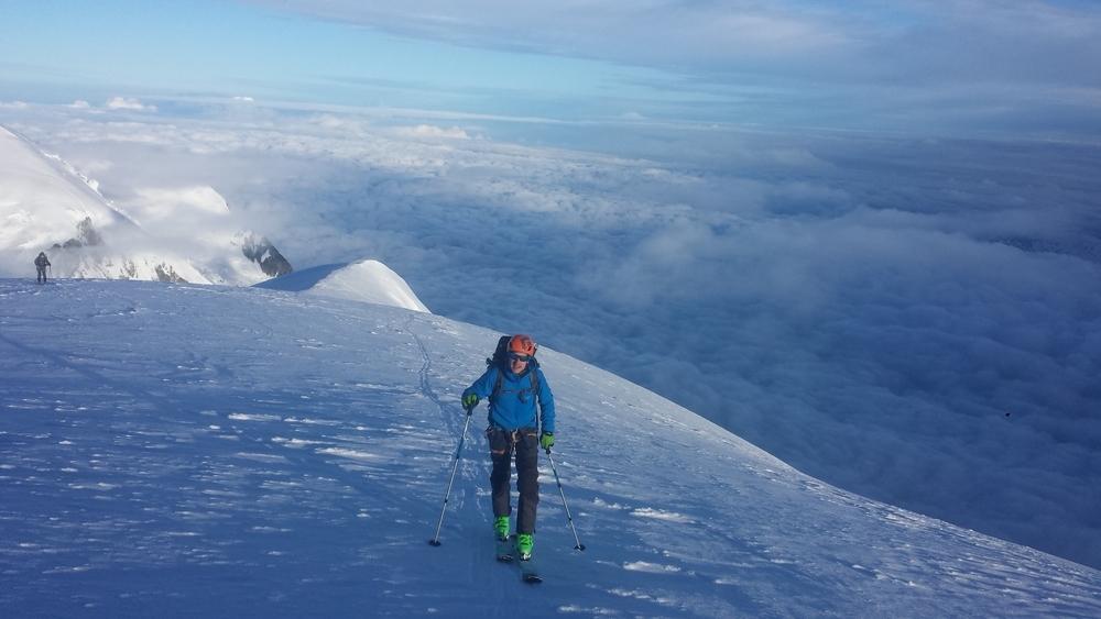 Mont-Blanc du Tacul - Ski - Montée vers le sommet du Tacul