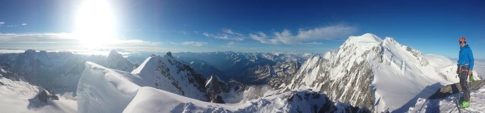 Mont-Blanc du Tacul - Ski - Panoramique