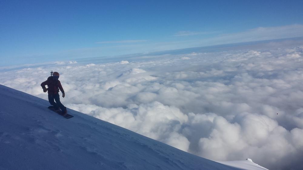 Mont-Blanc du Tacul - Ski - Quentin à la descente