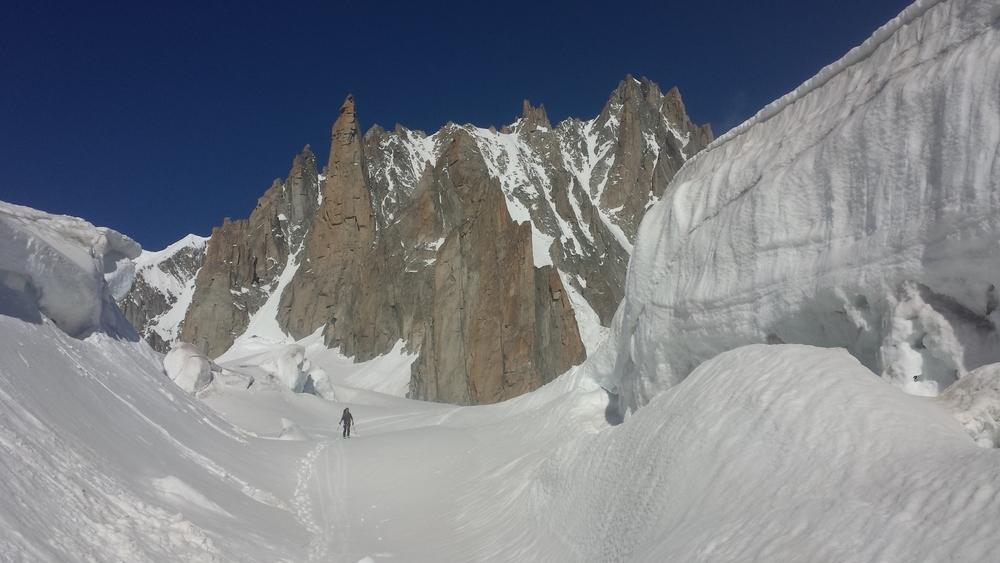 Mont-Blanc du Tacul - Ski - Retour vers Torino