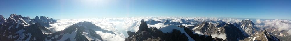 Traversée des bans - La vue du sommet