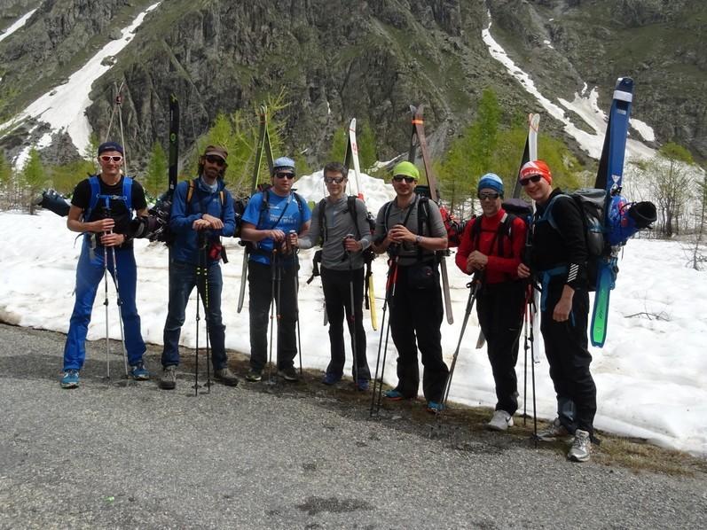 Raid ski Ecrins - Au départ