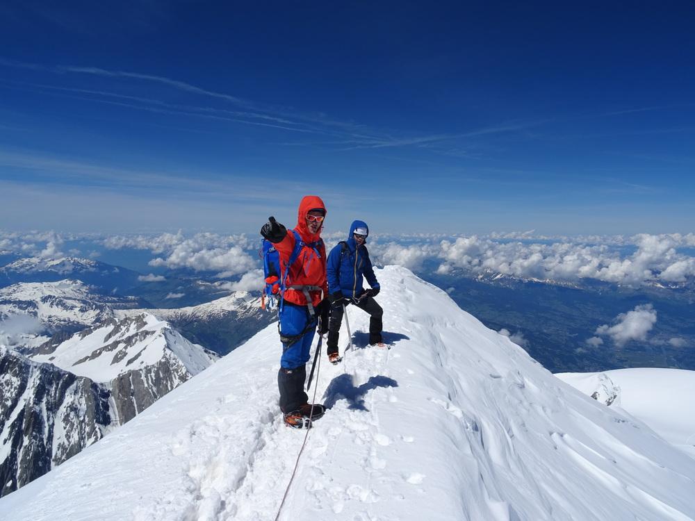 Mont-Blanc - Aymeric et Jb au sommet