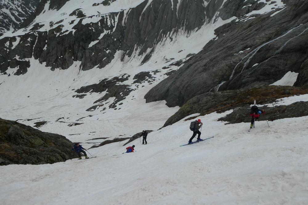 Raid ski Ecrins - Sous le Refuge du Glacier Blanc