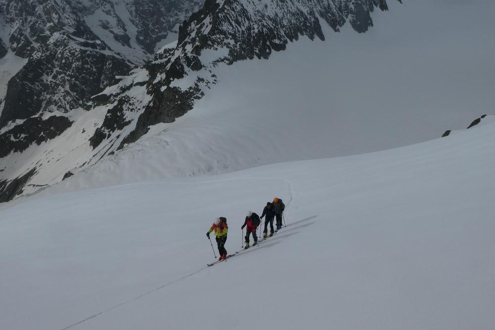 Raid ski Ecrins - En rang