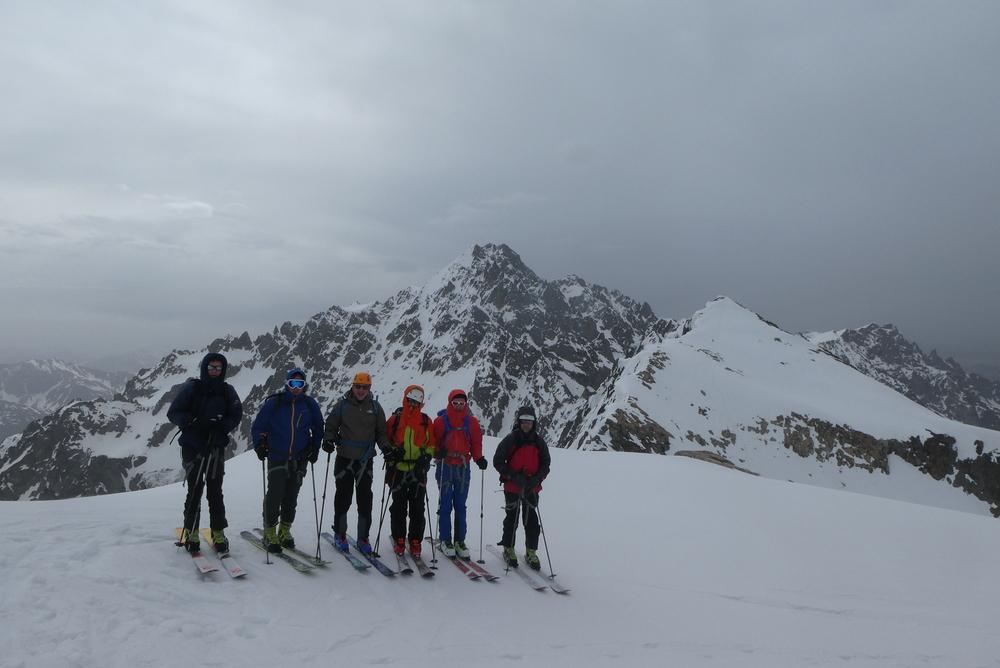 Raid ski Ecrins - Sommet de la bosse