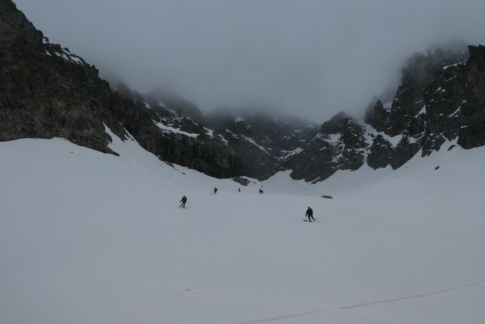 Raid ski Ecrins - Sous le col de Monetier