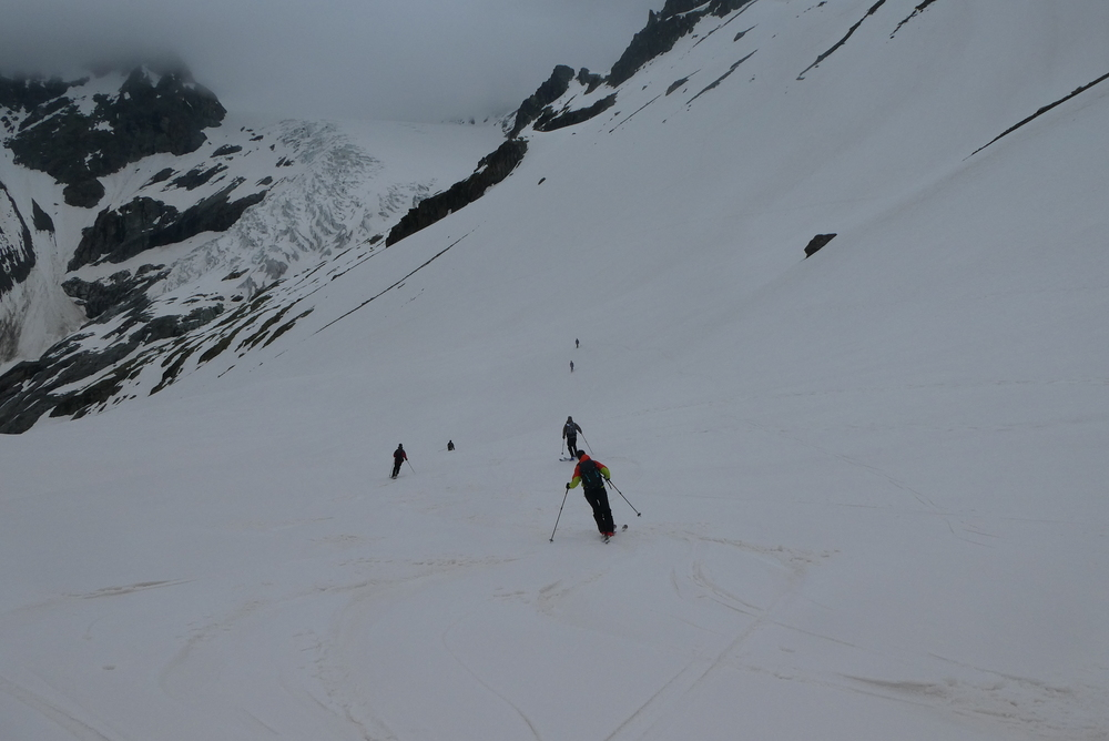 Raid ski Ecrins - Ski de névé
